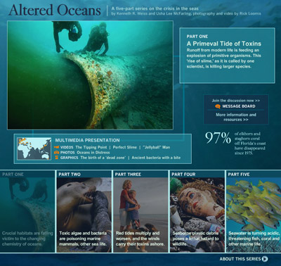 Los Angeles Times: Altered Oceans - Click to view