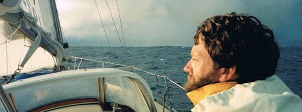 Neil Sanderson, skipper of yacht Oceana, approaching New Zealand in 1991